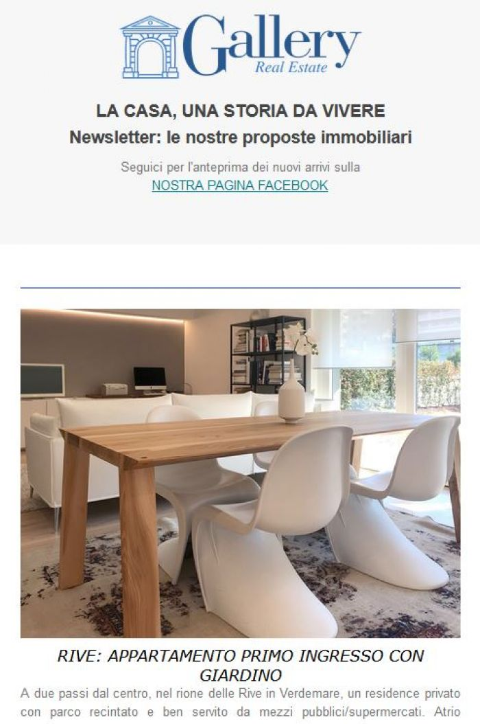 La NEWSLETTER di Gallery